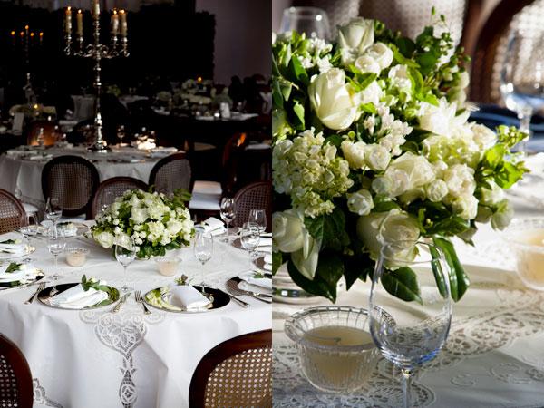 decoracao branca e verde para casamento:Centros de Mesa para Casamentos – Peguei o Bouquet