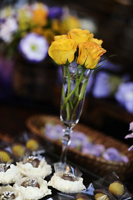 Decoração de Casamento: Amarelo e Lilás