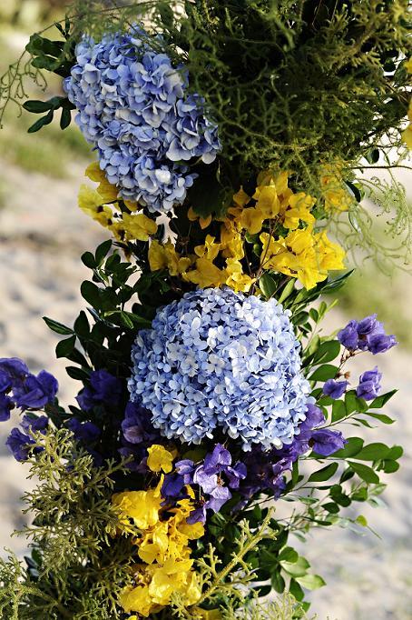 decoracao de igreja para casamento azul e amarelo : decoracao de igreja para casamento azul e amarelo:Decoração de Casamento: Amarelo e Lilás – Peguei o Bouquet