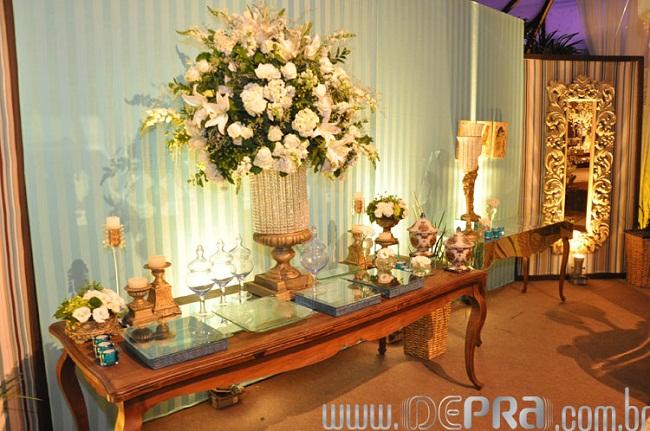 Decora??o de Casamento Azul e Branca - Noivinhas de Luxo