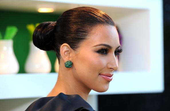 Kim-Kardashian-Beauty-Updos-Bun-HairstyleKim Kardashian Updos