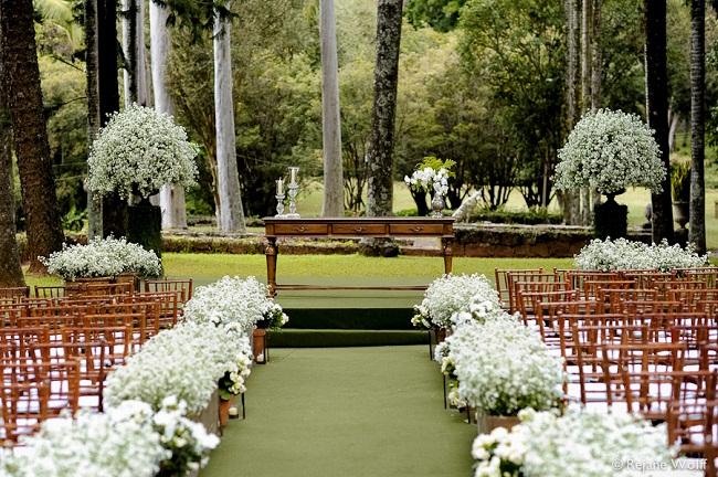 casamento foi realizado na Fazenda Vila Rica (São Paulo), e as