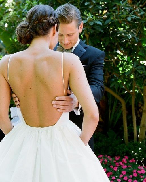 Vestido de Noiva com Decote nas Costas - Peguei o Bouquet