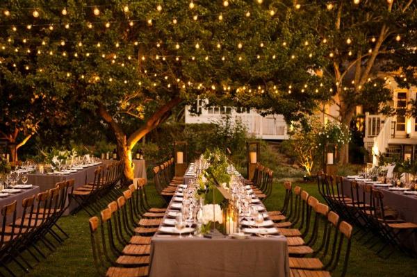 Outdoor Backyard Wedding Reception Ideas : L?mpadas na Decora??o do Casamento  Peguei o Bouquet