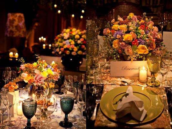 Decora o de casamento colorida e chique peguei o bouquet - Chique campagne ...